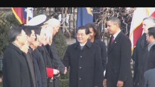 胡锦涛访美(十二):白宫欢迎实况