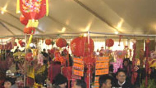 折纸书法做拉面 美国华人博物馆全家庆新春