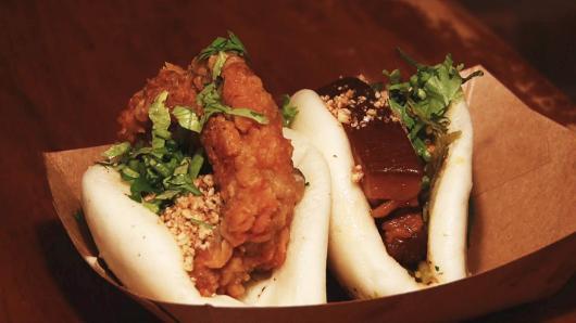中文美食系列:街边摊美食台湾刈包