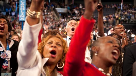 夏洛特为之沸腾 奥巴马演讲在即