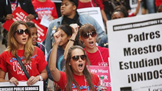 芝加哥教师大罢工第二周 中文聚焦:谁动了你的奶酪