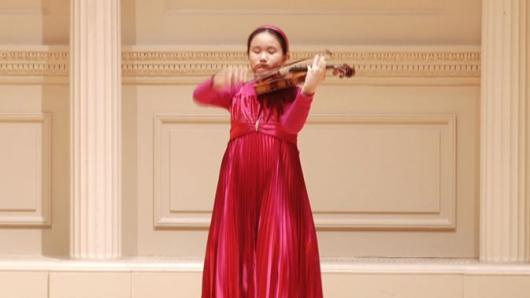 卡耐基独奏音乐会 10岁华裔女孩绽放梦想
