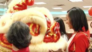 休斯敦庆新春 舞龙舞狮中国城拜年