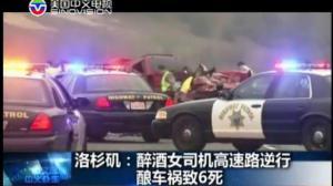 洛杉矶惊现马路杀手!醉酒女司机高速逆行致六人死亡