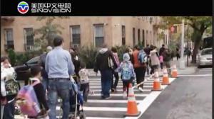 """纽约市长白思豪公布""""零死亡愿景""""交通安全计划"""