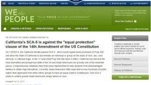 华人发起白宫请愿!抗议加州SCA5法案限制亚裔生入学比例