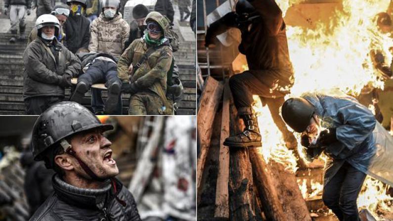 乌克兰冲突死伤严重 警方实弹开枪