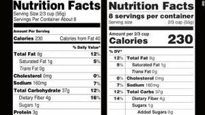FDA要改食品标签 老百姓购物将颠覆旧观念