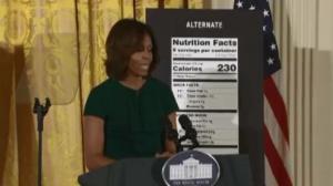 第一夫人宣布改革食品成分标签 从脂肪转向卡路里