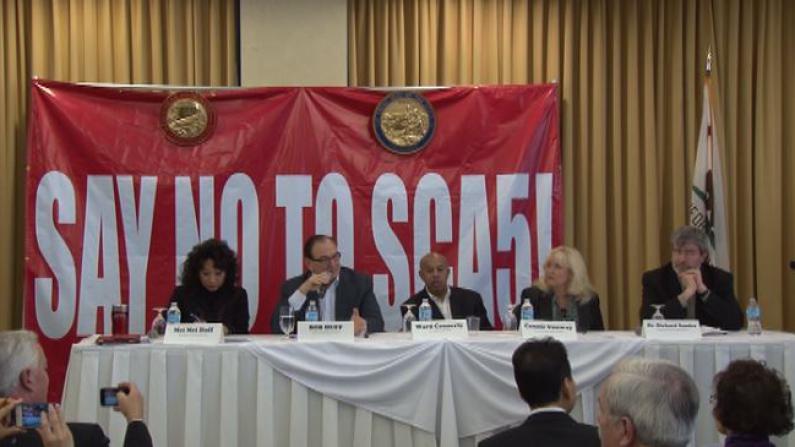 种族歧视!加州共和党参众议员集体对SCA5说不