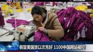 打假没商量!假冒美国货以次充好 1100中国网站被控