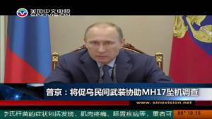 普京:将促乌民间武装协助MH17坠机调查