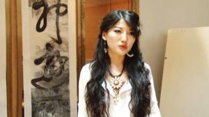华裔艺术家田海稣作品纽约展出 哥大东亚图书馆普及书法文化