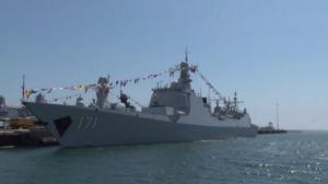 中国海军舰艇编队抵达加州圣地亚哥进行友好访问