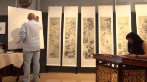 """孙振江新文人画展暨""""中国文化月""""8/30纽约开展"""