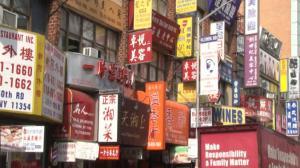 法拉盛40路封街拍电影 商家:不会影响生意