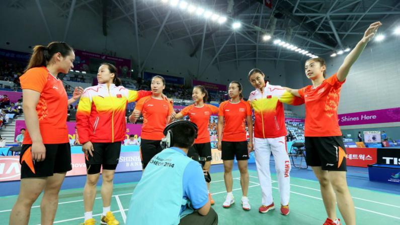 中国女羽完胜韩国 实现团体五连冠