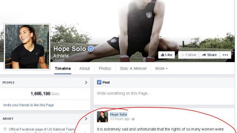 索罗脸书发声明:在家暴事件中绝对无辜