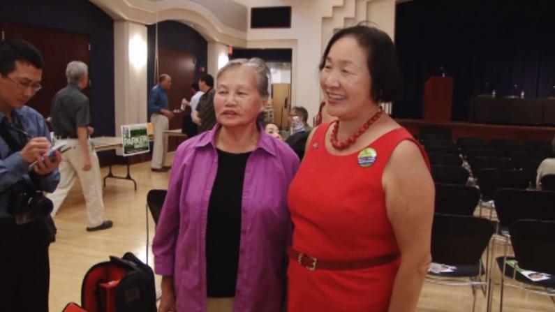 奥克兰市长候选人华埠辩论拜票