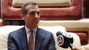 专访洛杉矶市长:首次访华硕果累累 希望未来再到中国