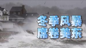 美东遭遇冬季风暴 纽约降雪影响出行