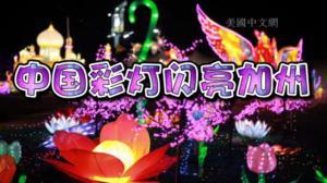 绚丽中国彩灯闪亮加州州府 造型各异吸引游客四十万