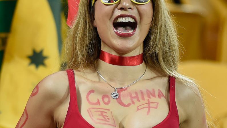 中国足球队0:2澳大利亚 结束亚洲杯之旅
