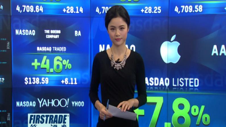 苹果业绩逆天三个月赚180亿 股价大涨推动美股高开