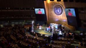 """联合国举办""""抗击埃博拉病毒和建设未来""""音乐会"""