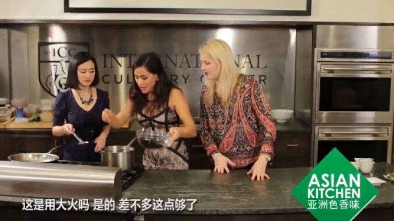 """泰国美女大厨的法式""""椰汁青口"""""""