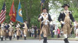 独立战争第一枪  莱克星顿国殇日大游行