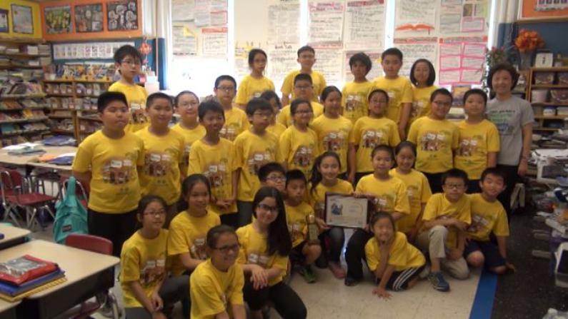 垃圾分类 从小做起 华埠PS130小学获纽约市颁发环保奖