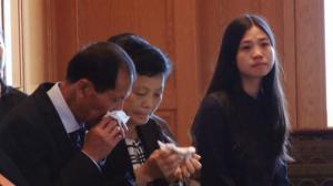 纽约亚裔律师协会年会 给刘文健家属颁奖