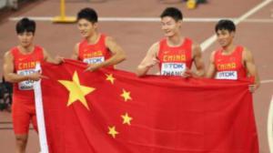 中国田径再次创造历史  男子4×100米接力摘银牌