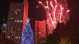 芝加哥市府点亮圣诞树 开启节日季