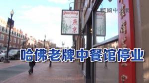 哈佛广场中餐馆营业40年突然停业 疑因房产被哈佛校方收回