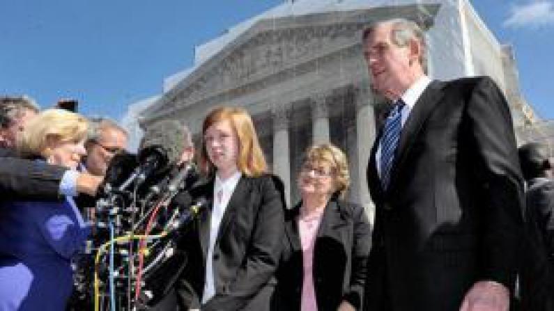 最高法院重审费舍尔案   华裔家长最高法院集会