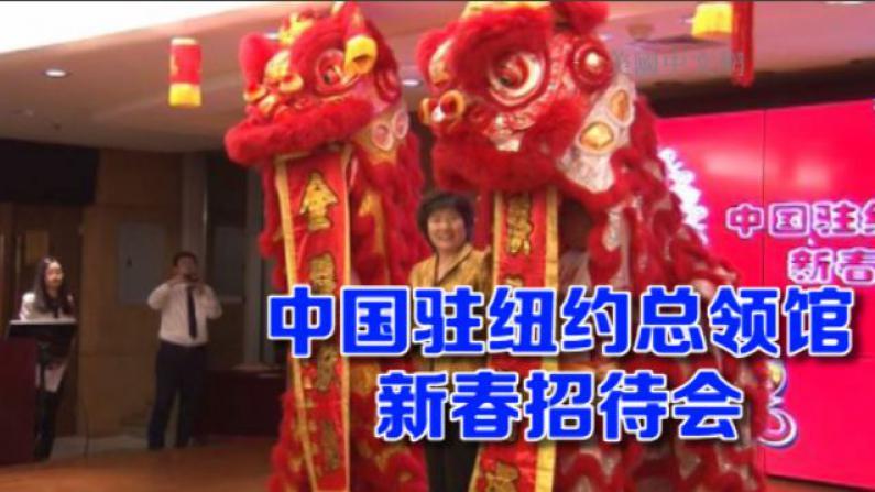 中国驻纽约总领馆举办2016年春节招待会 美东各界迎猴年