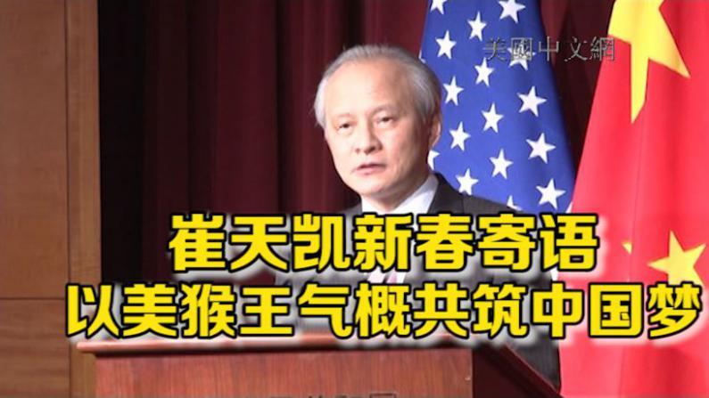 中国驻美大使崔天凯新春寄语:以美猴王气概共筑中国梦