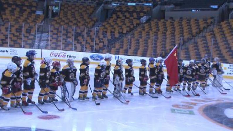 """""""中华之夜""""闪耀波士顿NHL赛场 冰球迷感受春节年味"""