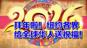 猴年新春将至 纽约各界华人华侨喜气洋洋拜年送祝福
