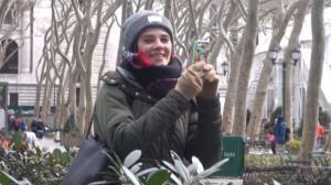 纽约史上最冷情人节或将至 情侣:冰上约