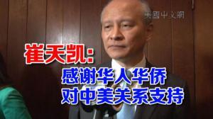 答本台记者问 崔天凯:感谢华人华侨对中美关系支持