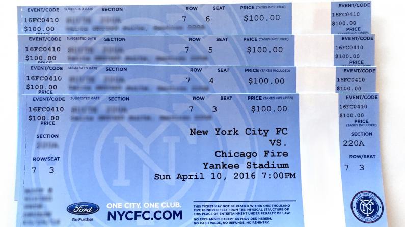 400块NYCFC足球票红包揭晓 恭喜你!