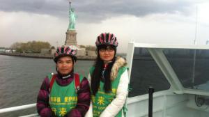 骑行10余万公里 途经51个国家 中国车手环游骑行抵达纽约