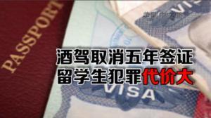 中国留学生酒驾被抓 签证被取消欲哭无泪