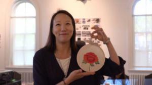 母亲节制作别样小礼物:手工牡丹图小挂画