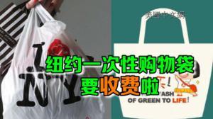 纽约一次性购物袋收费法案通过  十月一号开始实施