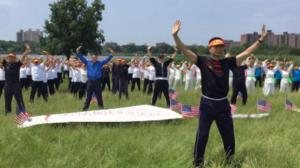 2016纽约太极健身气功活动日可乐娜公园举行