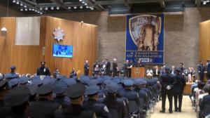 纽约市警总局举行升职典礼 三名华裔警员荣获晋升
